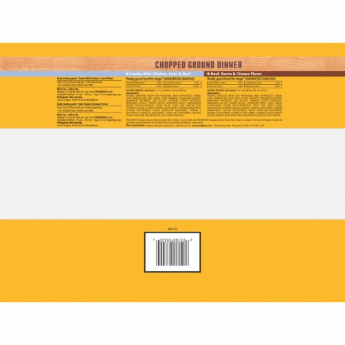 Pedigree Chopped Ground Dinner Adult Wet Dog Food Variety Pack Perspective: bottom