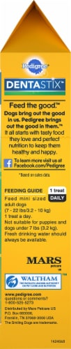 Pedigree DentaStix Triple Action Fresh Oral Care Treats for Small Dogs 21 Count Perspective: bottom