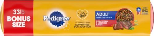 Pedigree® Adult Complete Nutrition Grilled Steak & Vegetable Flavor Dry Dog Food Bonus Size Perspective: bottom