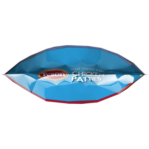 Tyson Fully Cooked Chicken Patties Perspective: bottom