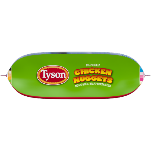 Tyson Fully Cooked Chicken Nuggets Perspective: bottom