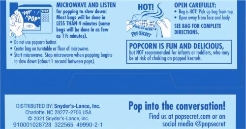 Pop Secret Butter Popcorn Bags Perspective: bottom