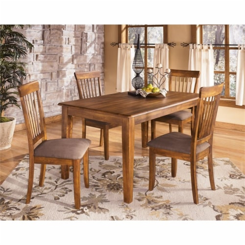 Ashley Berringer Microfiber Upholstered Dining Side Chair in Rustic Brown (set of 2) Perspective: bottom