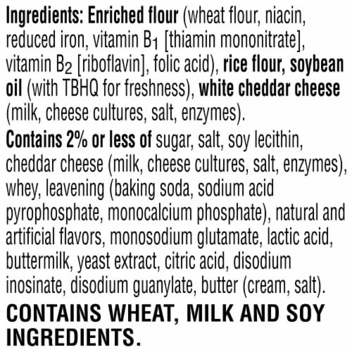 Cheez-It Grooves Sharp White Cheddar Snack Crackers Family Size Perspective: bottom