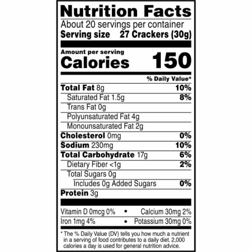 Cheez-It Baked Snack Cheese Crackers Original Family Size Perspective: bottom