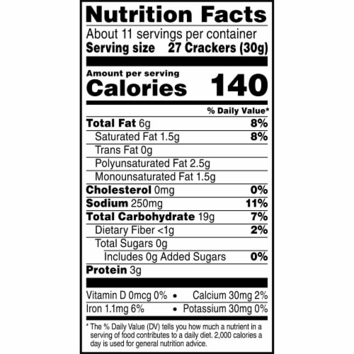 Cheez-It Baked Snack Cheese Crackers Reduced Fat Original Perspective: bottom