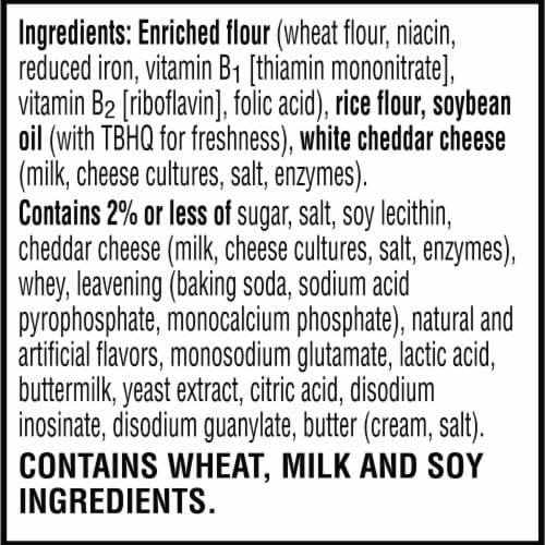 Cheez-It Grooves Crunchy Cheese Snack Crackers Sharp White Cheddar Perspective: bottom