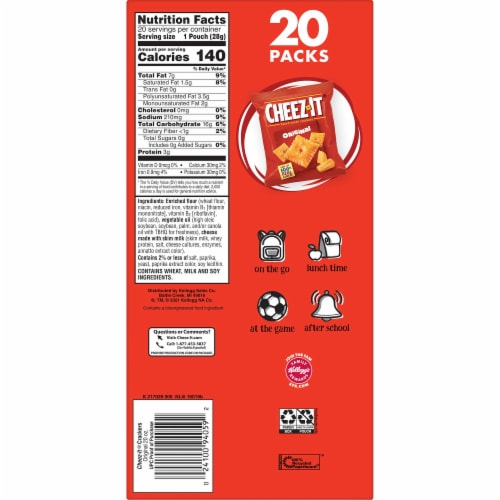 Cheez-It Original Baked Snack Crackers Perspective: bottom