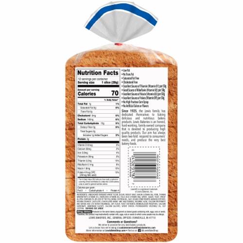 Lewis Bake Shop Half Loaf Soft White Bread Perspective: bottom