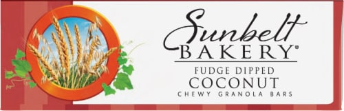 Sunbelt Bakery Fudge Dipped Coconut Chewy Granola Bars Perspective: bottom