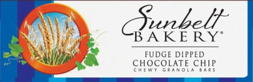 Sunbelt Bakery Fudge Dipped Chocolate Chip Chewy Granola Bars Perspective: bottom