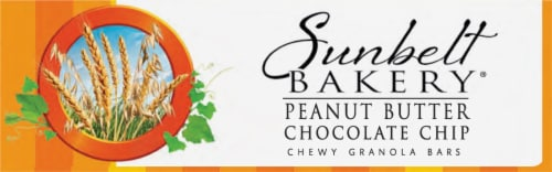 Sunbelt Bakery Peanut Butter Chocolate Chip Chewy Granola Bars Perspective: bottom