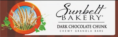 Sunbelt Bakery Dark Chocolate Chunk Chewy Granola Bars Perspective: bottom