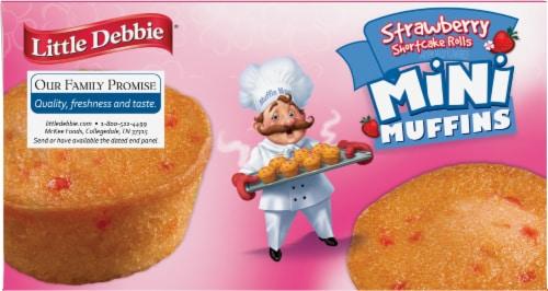 Little Debbie Strawberry Shortcake Mini Muffins Perspective: bottom