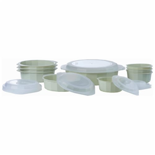 LaCuisine 18pc Microwave Cookware Set Perspective: bottom