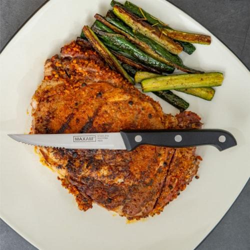 Maxam 8 Piece Serrated Steak Knife Set Perspective: bottom