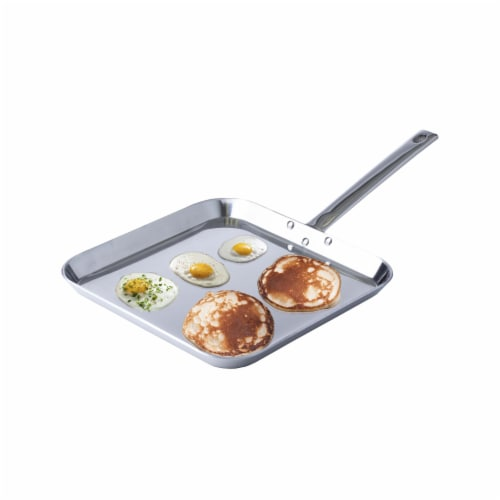 Chef's Secret T304 High-Quality Stainless-Steel 11-Inch Square Griddle Perspective: bottom