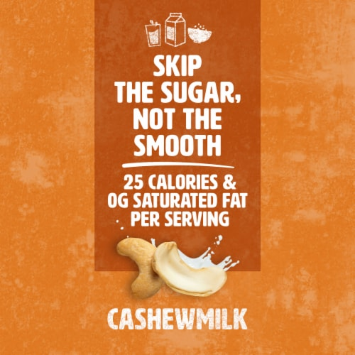 Silk Unsweetened Creamy Cashew Milk Perspective: bottom