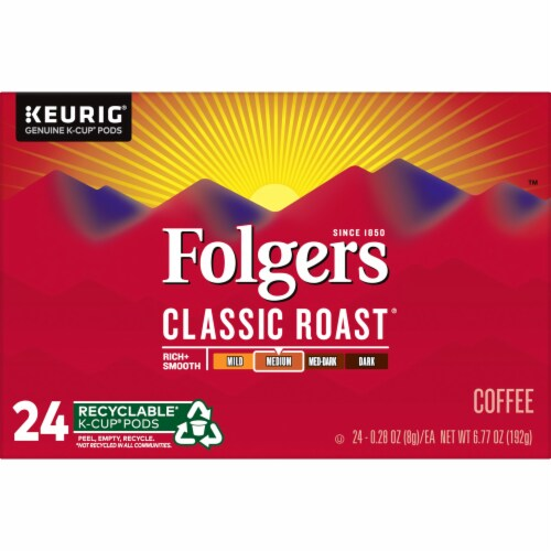 Folgers Classic Roast Coffee K-Cup Pods Perspective: bottom