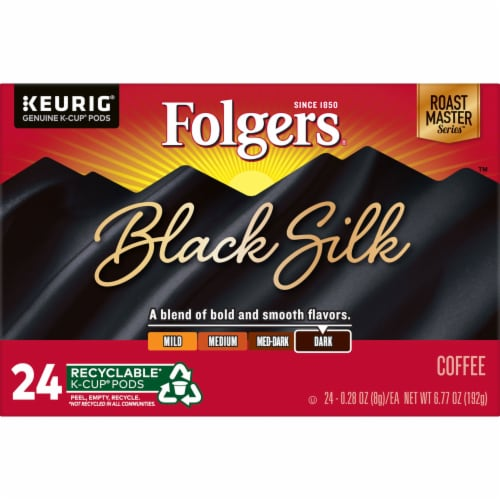 Folgers Black Silk Dark Roast Coffee K-Cup Pods Perspective: bottom