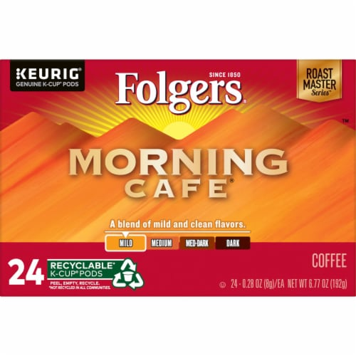 Folgers Morning Cafe Mild Roast Coffee K-Cup Pods Perspective: bottom