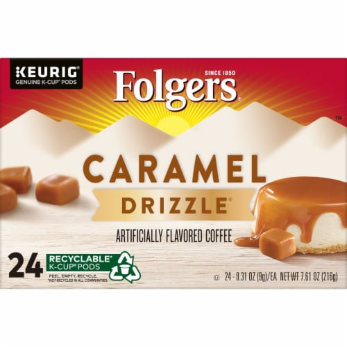 Folgers Caramel Drizzle Coffee K-Cup Pods Perspective: bottom