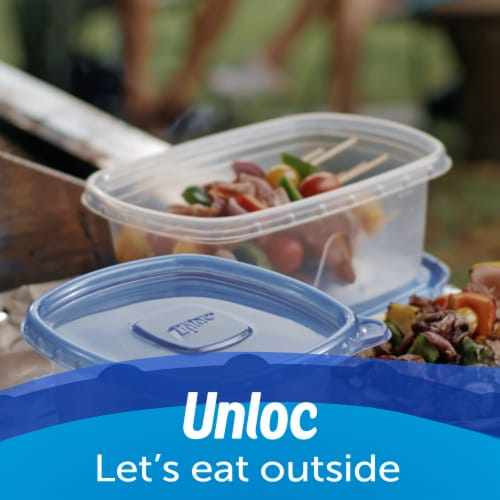 Ziploc® One Press Seal Deep Square Food Storage Containers and Lids Perspective: bottom