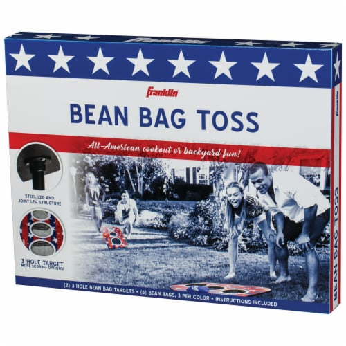 Franklin USA 3-Hole Bean Bag Toss Yard Game – Red/White/Blue Perspective: bottom