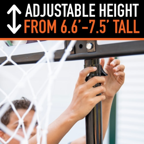Franklin Adjustable Basketball Hoop - Black/White Perspective: bottom