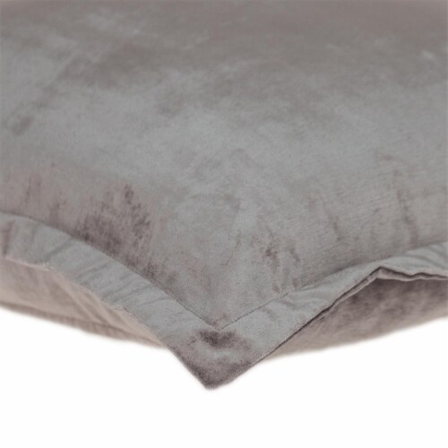 Parkland Collection Agneta Transitional Taupe Throw Pillow Perspective: bottom