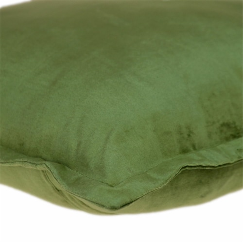 Parkland Collection Agneta Transitional Olive Throw Pillow Perspective: bottom