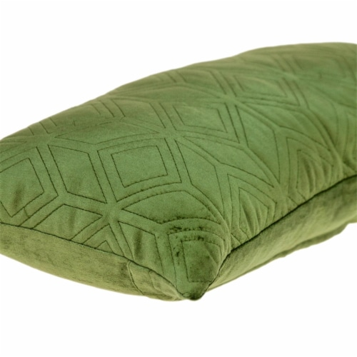 Parkland Collection Aleta Transitional Olive Throw Pillow Perspective: bottom