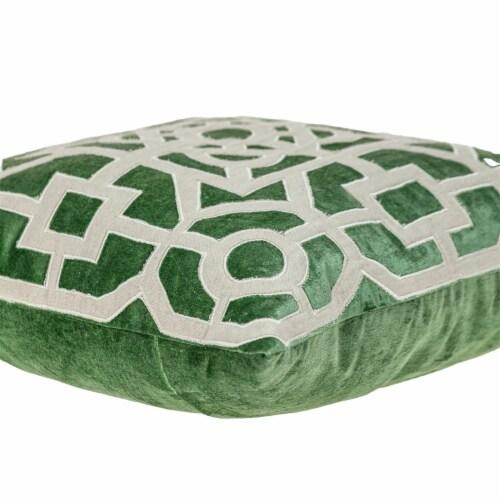 Parkland Collection Hazel Transitional Green/Sage Throw Pillow Perspective: bottom