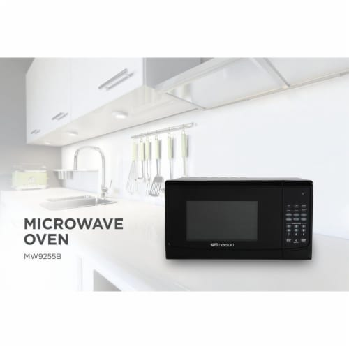 Emerson Touch-Control Microwave Oven - Black Perspective: bottom