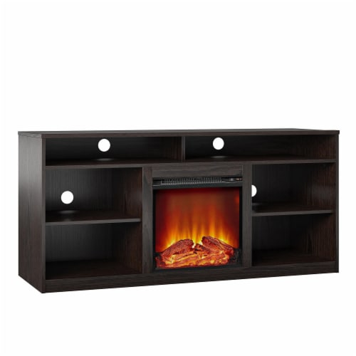 RealRooms Vesta Fireplace TV Stand for TVs up to 65 , Espresso Perspective: bottom