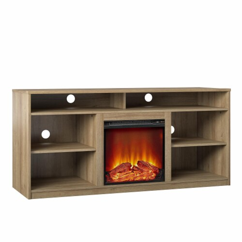 RealRooms Vesta Fireplace TV Stand for TVs up to 65 , Natural Perspective: bottom