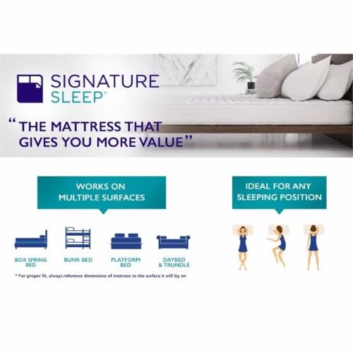 Signature Sleep Essence 8  Full Coil Memory Foam Mattress Perspective: bottom