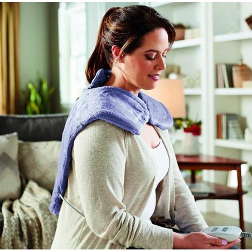 Sunbeam Pain Relief Massaging XL Renue Heat Therapy Neck & Shoulder, Lavender Perspective: bottom