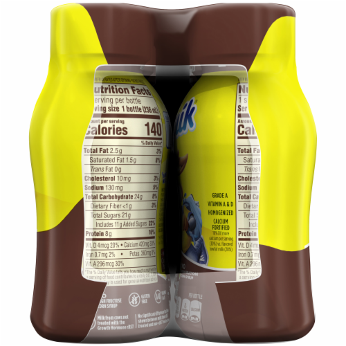 Nesquik Chocolate Low Fat Milk Perspective: bottom