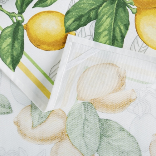 Martha Stewart Printed Lots of Lemons Kitchen Towels - 3 Pack - Yellow Perspective: bottom