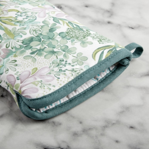 Martha Stewart Succulents Oven Mitts Perspective: bottom