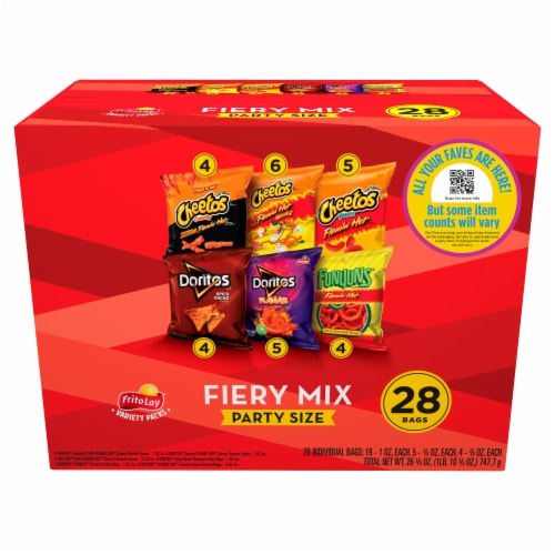 Frito-Lay Spicy Party Mix Snacks & Chips Variety Pack Perspective: bottom