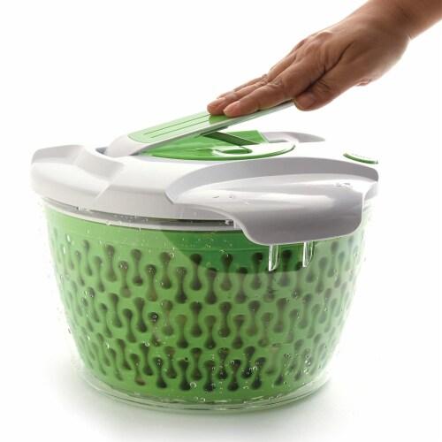 Norpro 6.8 Quart Deluxe Removable Colander Strainer Herb Vegetable Salad Spinner Perspective: bottom