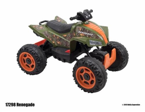 Huffy Renegade Battery Ride-On ATV - Camo Green Perspective: bottom