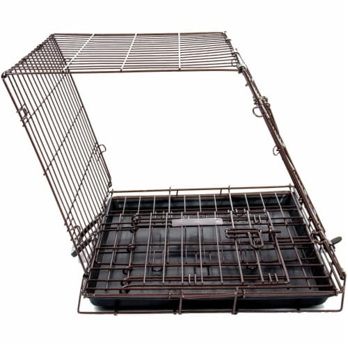 Petmate Double Door Training Retreat Wire Kennel Dog Crate with Divider, Black Perspective: bottom