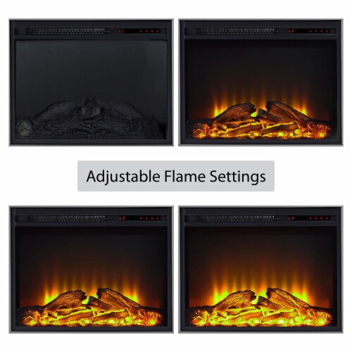 Manchester Electric Fireplace TV Stand or TVs up to 70 , Gray Perspective: bottom