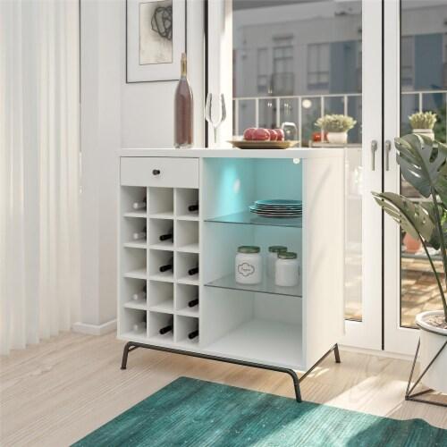 Melbourne Bar Cabinet, White Perspective: bottom