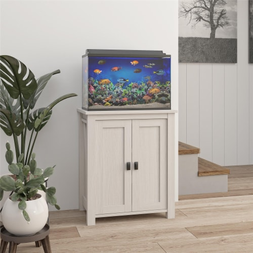 Farmington 10/20 Gallon Aquarium Stand, Ivory Oak Perspective: bottom