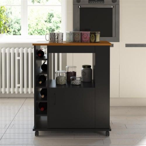 Williams Kitchen Cart, Black Perspective: bottom