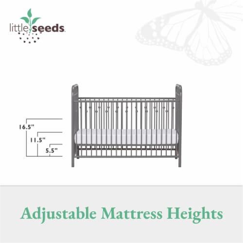 Monarch Hill Ivy Grey Metal Baby Crib Perspective: bottom